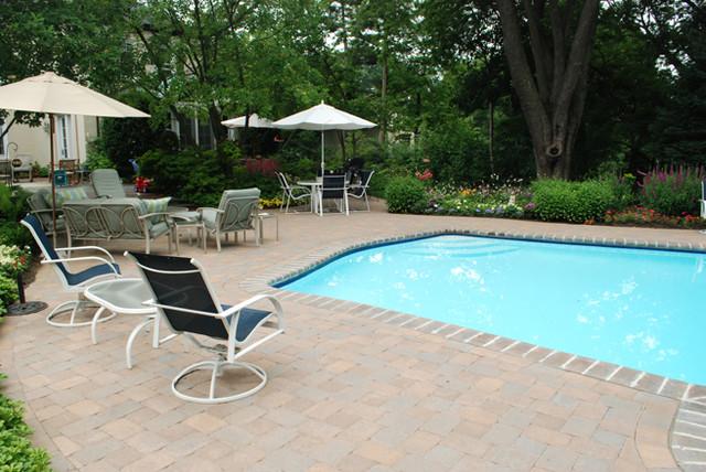 Pool Patio Residence traditional-patio