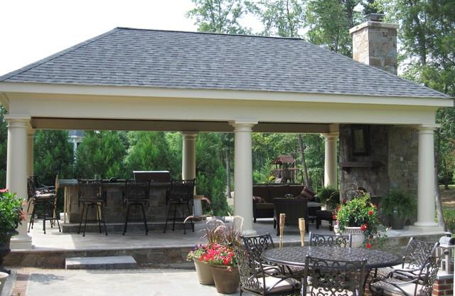 pool pavilion traditional patio