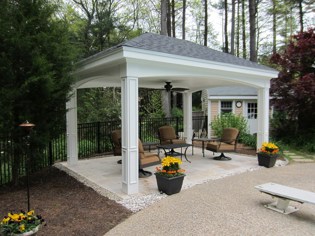 Pool Pavillion Traditional Patio Boston By