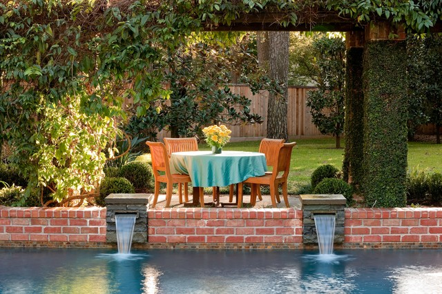 Backyard With Pool Remodel : Pool Remodel  Traditional  Patio  houston  by Exterior Worlds