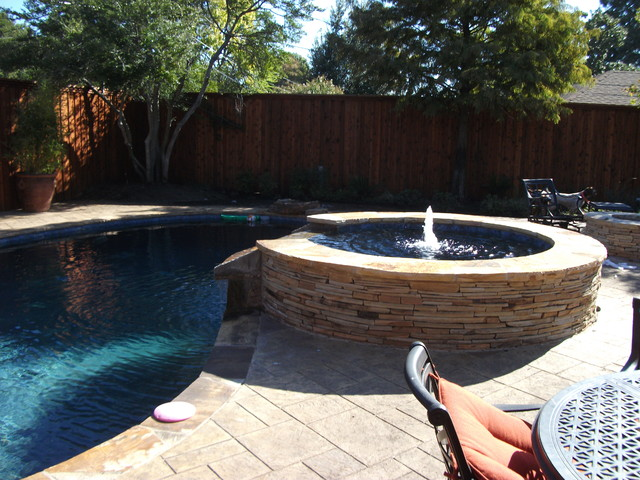 Pool Renovation With New Hot Tub Fire Pit And Cabana Bar