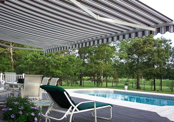 Pool Side Retractable Awning Modern Patio New York