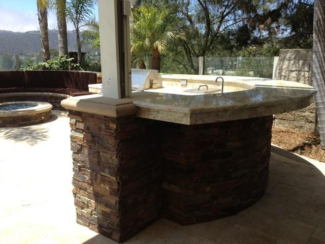 Pool, Spa & Backyard Remodel (baja Shelf, Paving, Firepit