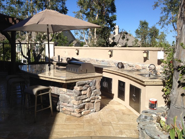 Pool Spa Bbq Amp Seating Area Remodel Traditional