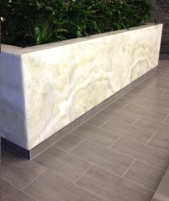 Stone Tiles For Backyard :  Floor Tiles and Onyx Slab from Royal Stone & Tile contemporarypatio