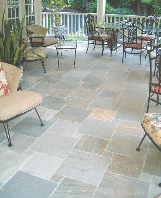 Porch Floor Tile Traditional Patio Raleigh By Neuse Tile