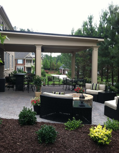 Porch Roof Over Patio Traditional Charlotte