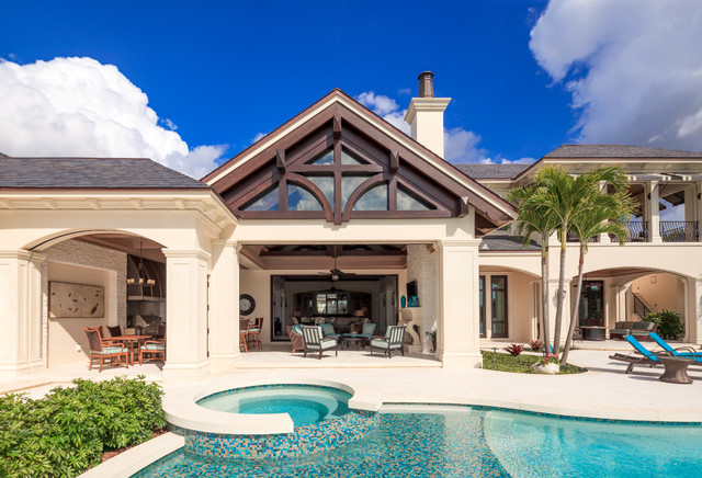 Port royal custom residence patio miami di bcb homes for 1111 dolphin terrace corona del mar