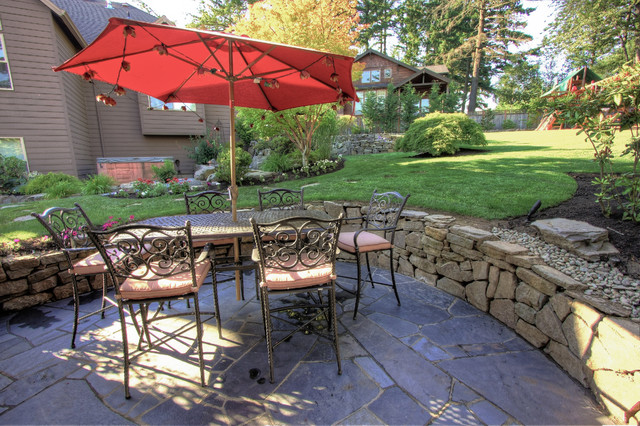 Portland Landscaping Outdoor Living on Houzz Backyard Patios id=83437