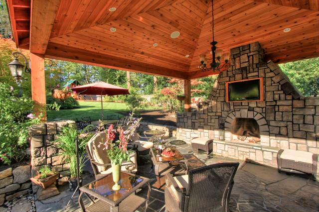 Portland landscaping outdoor living for Outdoor fireplace portland oregon