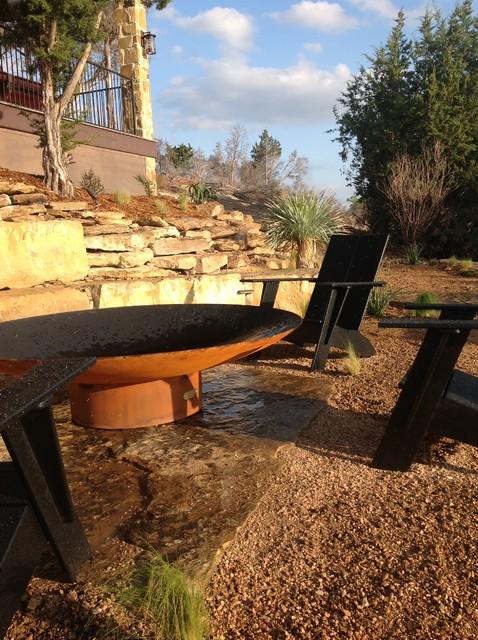 Possum Kingdom Lake House mediterranean-patio