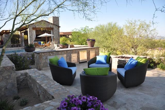 Walnut Travertine Pavers mediterranean-patio