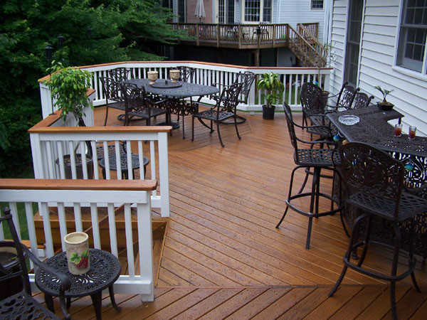 Pressure Treated Wood Deck Traditional Patio Dc