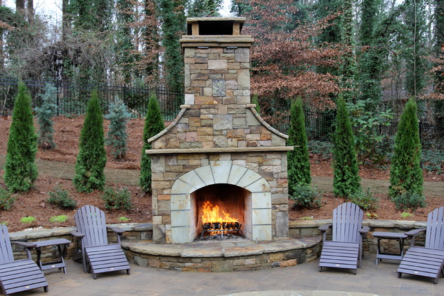 Price Pool And Outdoor Living Space - Traditional - Patio - Atlanta - By Artistic Landscapes