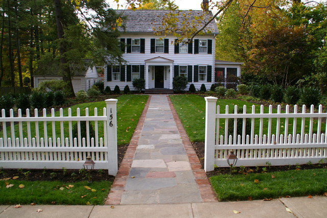 Princeton colonial traditional patio philadelphia for Colonial landscape design