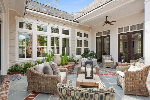 Private courtyard traditional patio new orleans by for Old world house plans courtyard