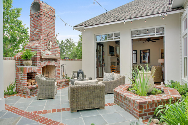 Private courtyard traditional patio new orleans by for New orleans style house plans courtyard