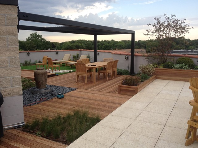 Private Roof Garden Contemporary Patio Chicago By