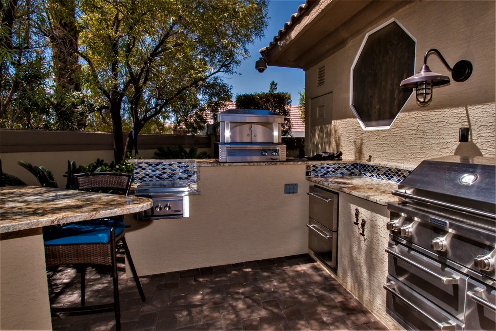 Project Outdoor Kitchen Fire Table Southwestern Patio Las Vegas By Ambient Elements