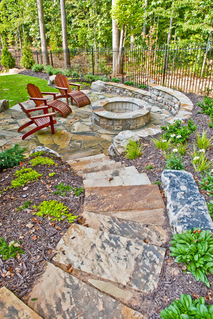 Property Mfasters - Traditional - Patio - atlanta - by ... on Patio On A Slope Ideas id=41578