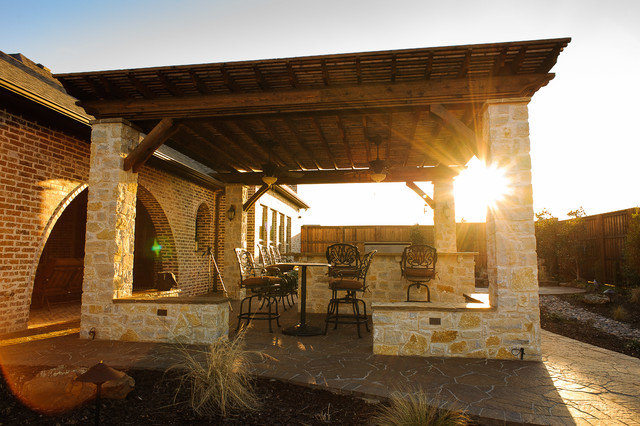 Prosper tx traditional patio dallas by dallas for Dallas outdoor kitchens