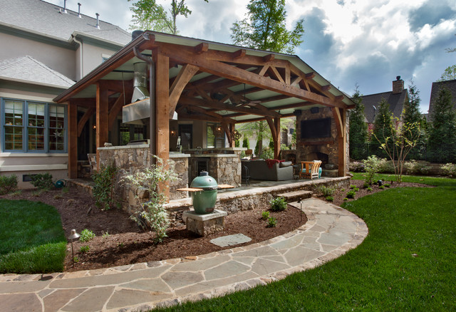 Providence Downs Timber Frame Traditional Patio Charlotte By The Stone Man