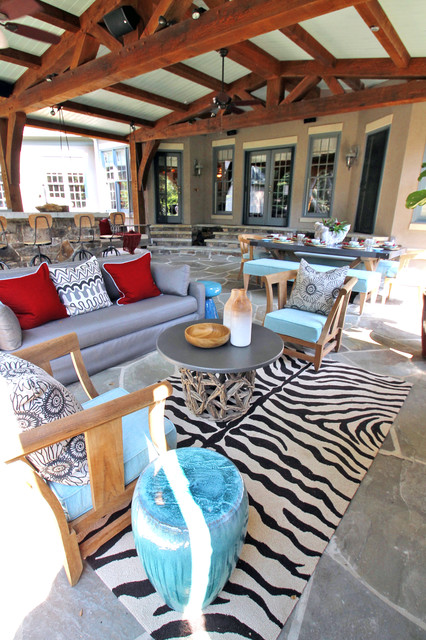 Providence Downs Timber Frame contemporary-patio