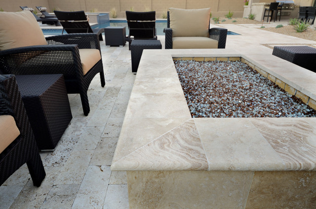 QDI Noce Travertine Pavers contemporary-patio