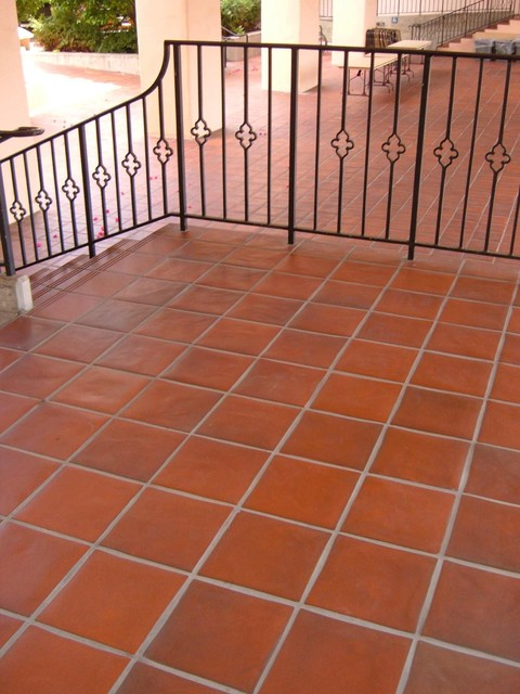 Quarry Tile Pavers Mediterranean Patio By Wqttilecom