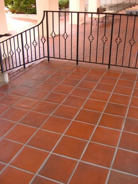 Quarry Tile Pavers Mediterranean Patio By Wqttile