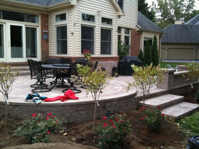 Raised Patios Traditional Patio Detroit By Apex Landscape