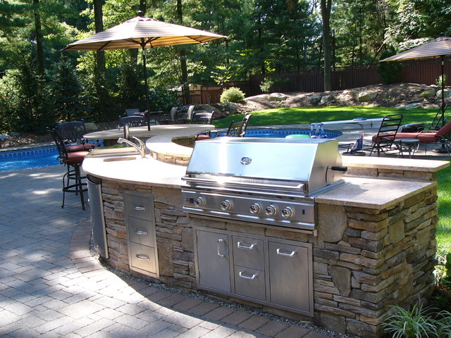 Ramsey nj outdoor kitchen traditional patio new for Outdoor kitchen designs nj