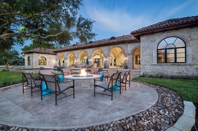 Ranch house mediterranean patio by jauregui Mediterranean ranch