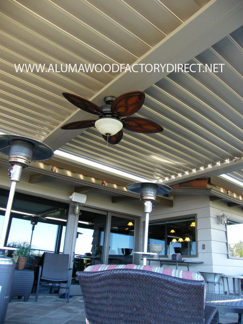 Equinox louvered roof system Rancho palos Verde, Ca. traditional-patio