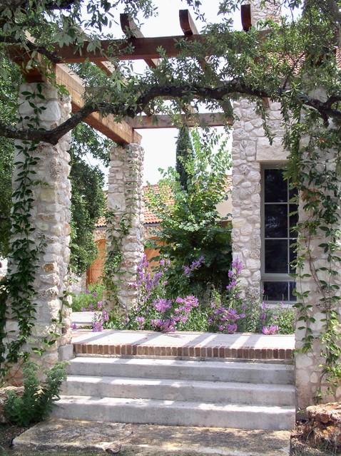 rear terrace and pergola 3 mediterranean patio. Black Bedroom Furniture Sets. Home Design Ideas
