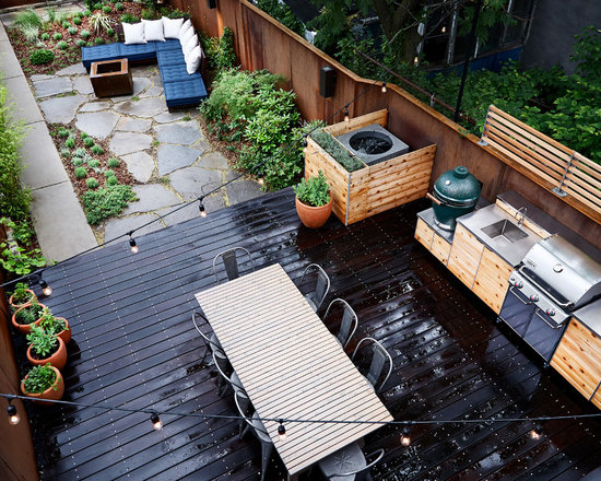 Row House Backyard Ideas : Rowhouse Backyard Home Design Ideas, Pictures, Remodel and Decor