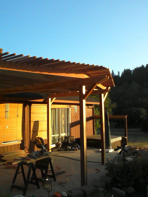 Redwood Patio Furniture Home Depot: Redwood Shade Structure