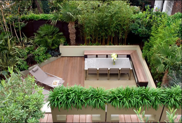 Regents Park Garden contemporary-patio