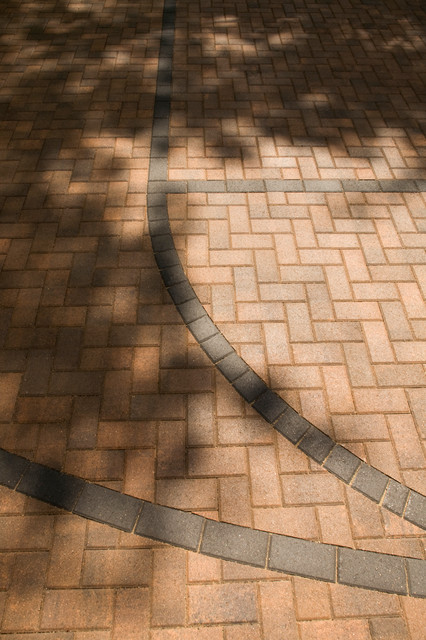 Regulation Basketball Court In Pavers Traditional