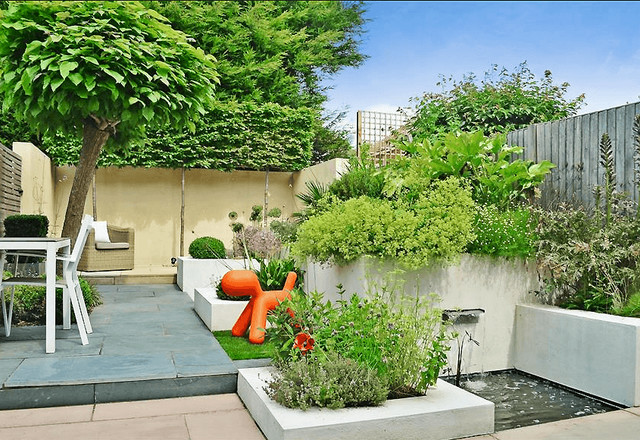 Reigate terrace for Garden design reigate