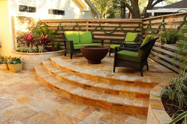 Reimagining a small florida panhandle backyard outdoor for Outdoor living spaces florida