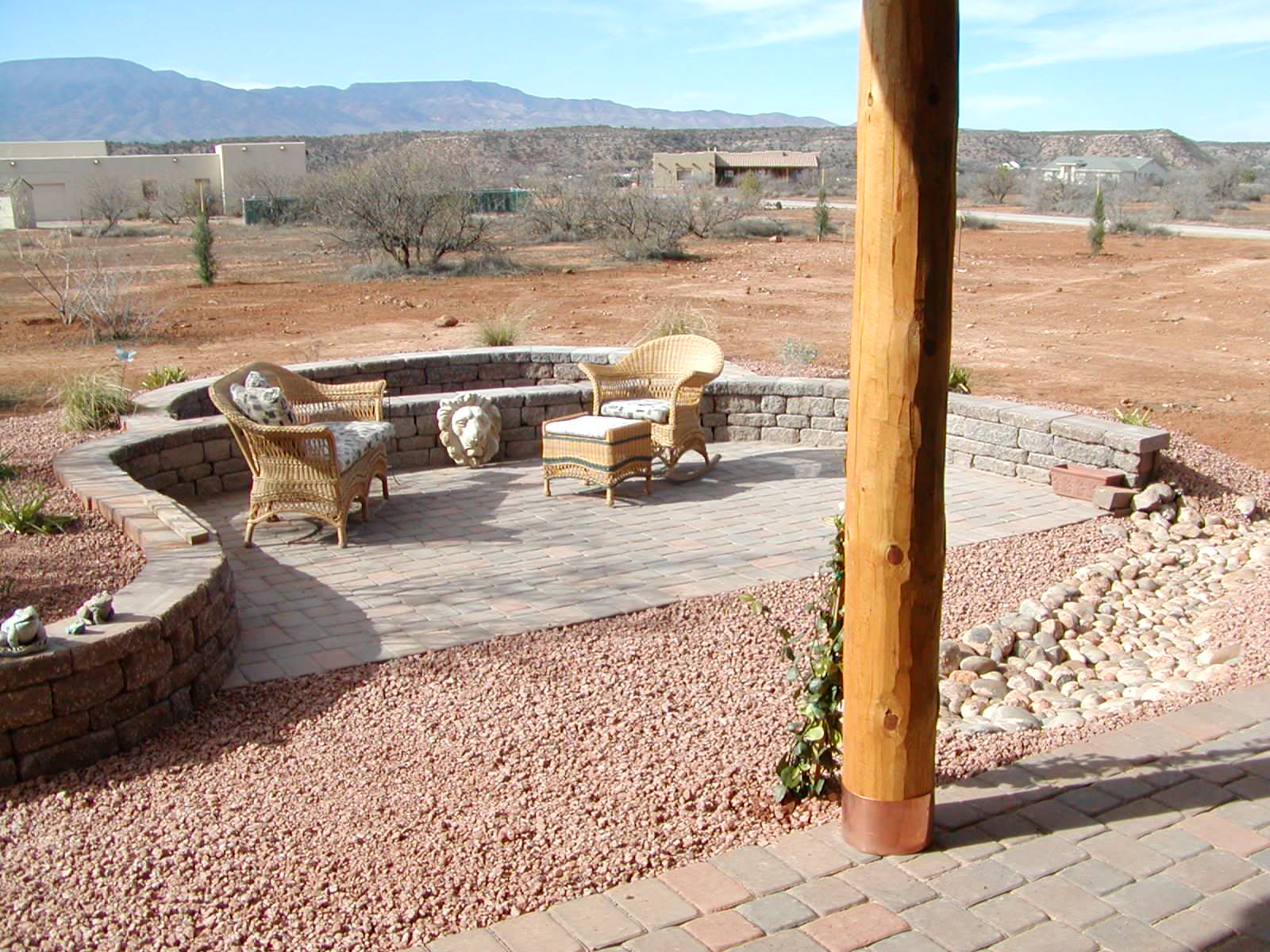 Relaxed patio