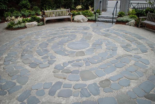 Reno garden winchester ma contemporary patio - Natural stone wall solutions ...
