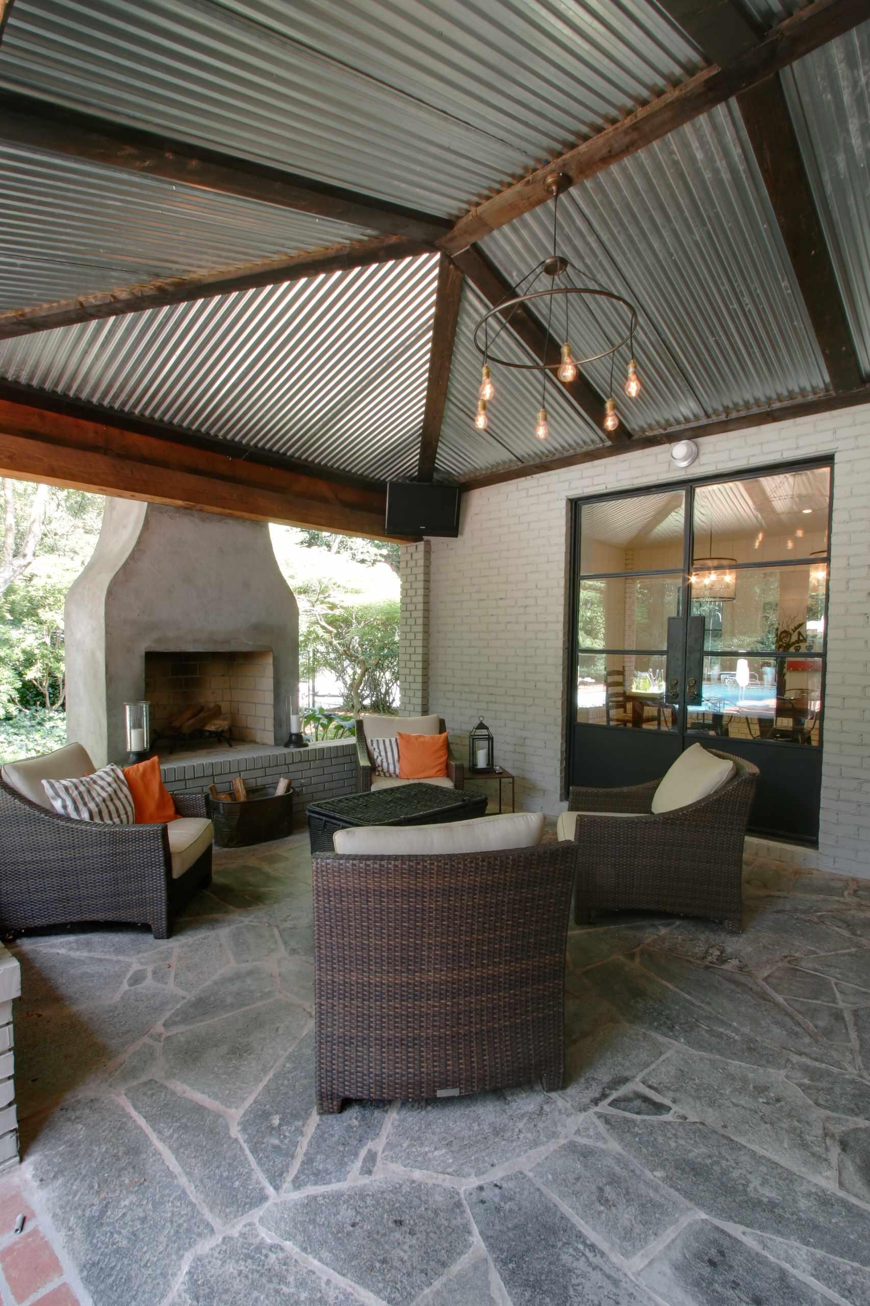 Corrugated Metal Roof Patio Ideas