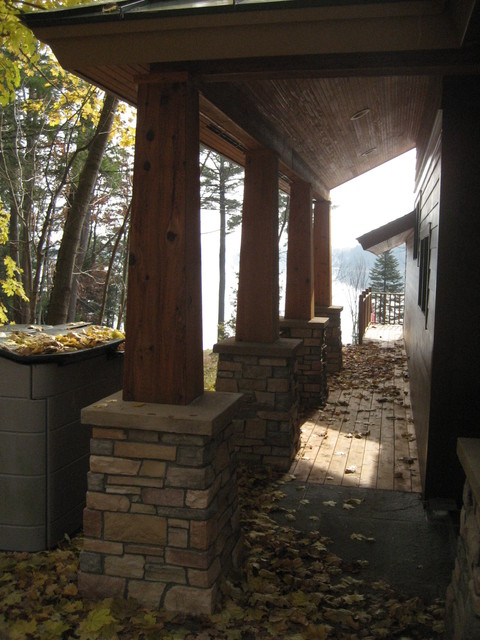 Renovation to Adirondack Home traditional-patio
