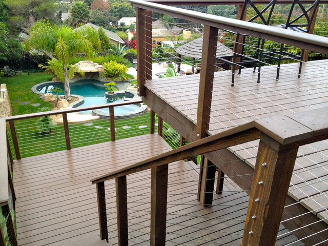 Residential Stairway Cable Rail - Modern - Patio - other metro - by San Diego Cable Railings