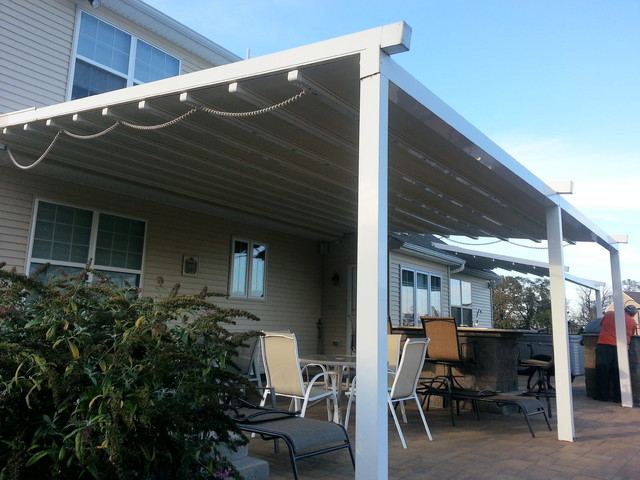 Residential Waterproof Retractable Patio Awning Traditional Patio