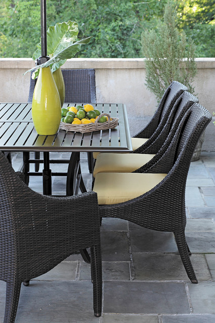 Resin Wicker Patio Dining Set Modern Patio