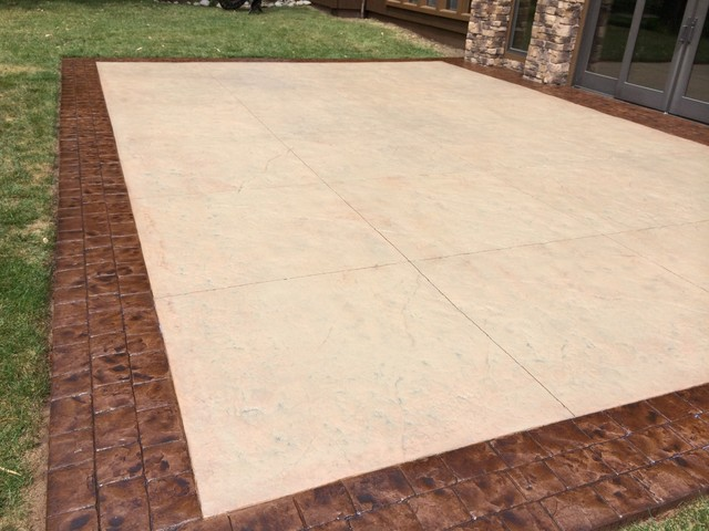 Restoring Stamped Concrete Desert Sand And Bark Brown