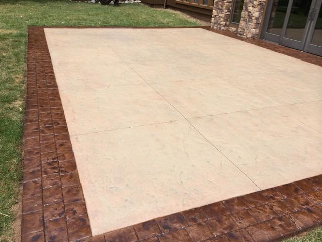 Restoring Stamped Concrete Desert Sand And Bark Brown
